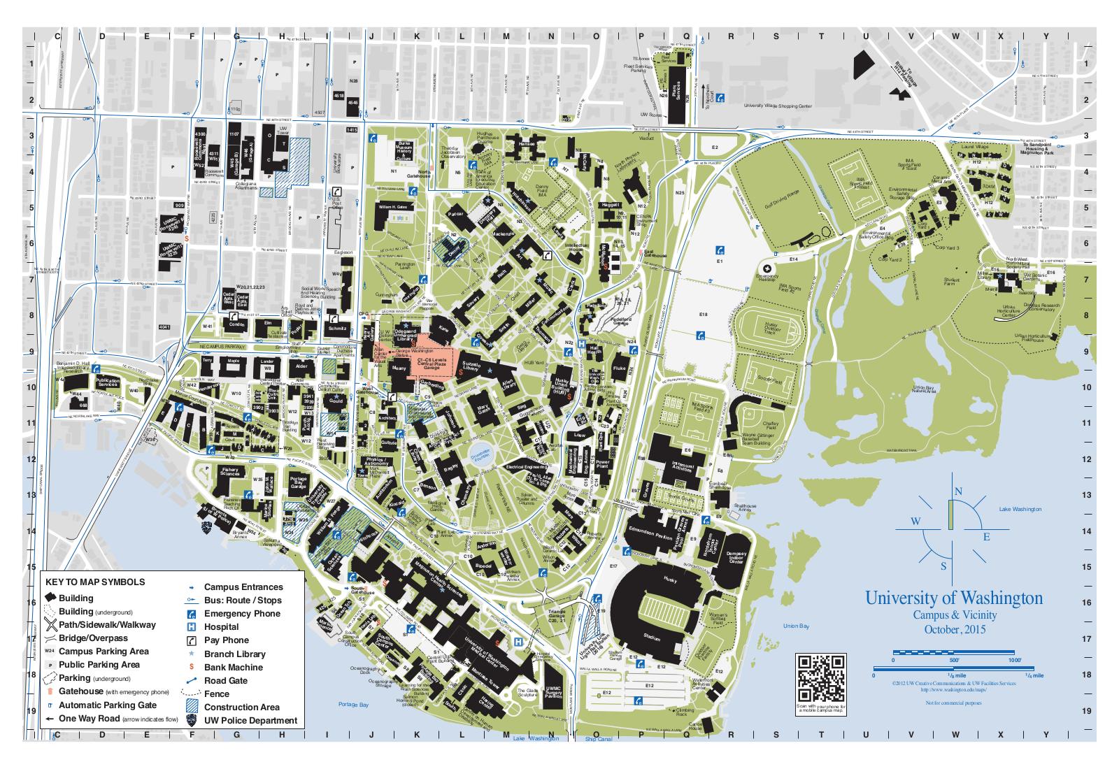 University of Washington Campus Map