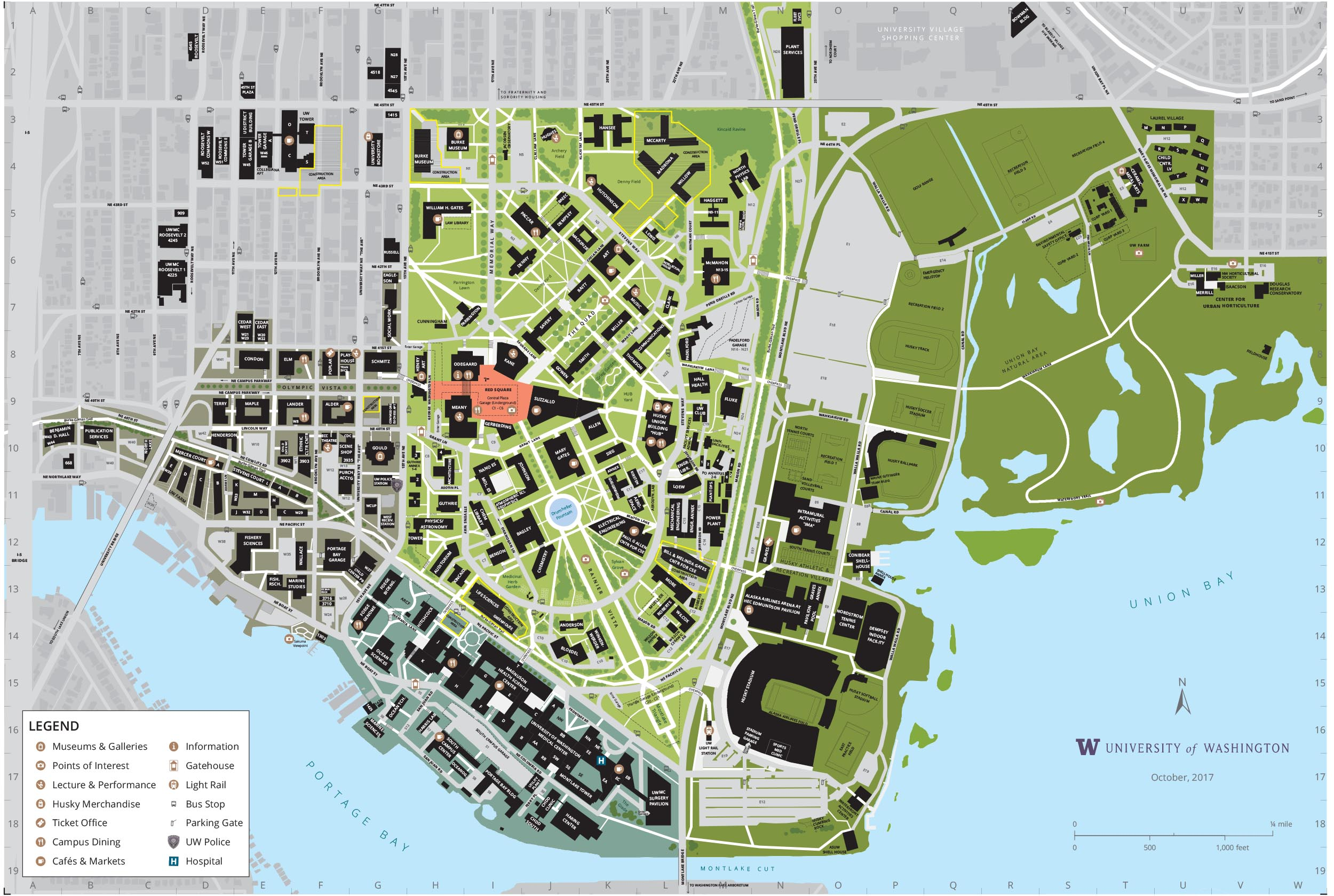 Campus Map University Of Washington Online Visitor S Guide